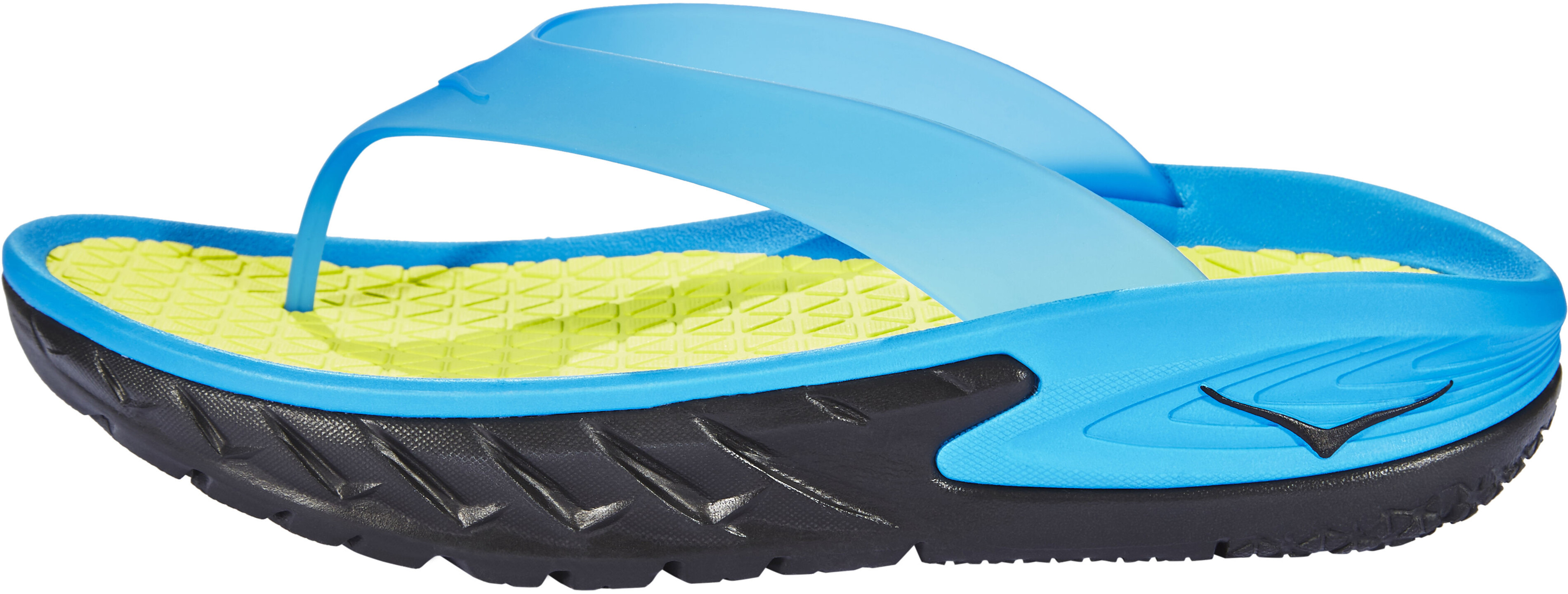 07d261d40a3c89 Hoka One One M s Ora Recovery Flip Sandals black process blue ...